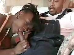 Ebony cheeks make crazy sex