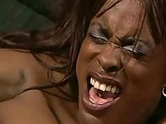 Black sexy babe in original porn action