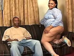 Bronzed fatty fucking hard with black stud in ebony sex movs